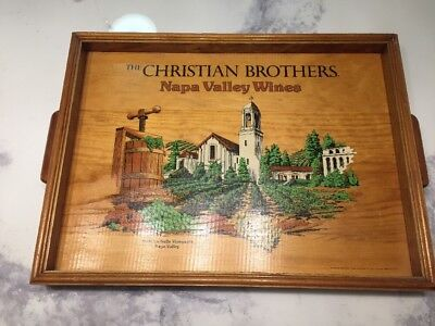 The Christian Brothers Napa Valley Wines Vintage Wood Serving Tray ..