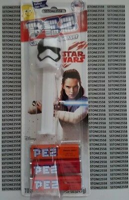*BRAND NEW* Star Wars The Last Jedi - Stormtrooper - Pez  Dispenser & Candy