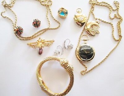 JOAN RIVERS signed HUGE JEWELRY LOT; NECKLACE, PIN, EARRING, BRACELET ALL NEW