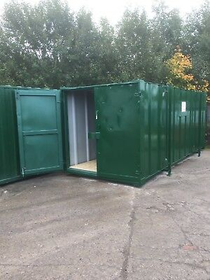 20ft x 8ft Jack Leg. Shipping Storage Container. Site Unit