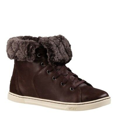 7154d931c9d UGG AUSTRALIA BROWN Croft Luxe Genuine Shearling High Top Sneaker ...