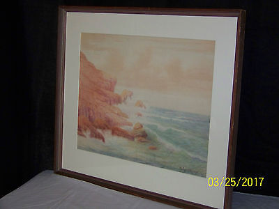 Richard Kruger American Listed Artist Original Seascape c1900 Painting