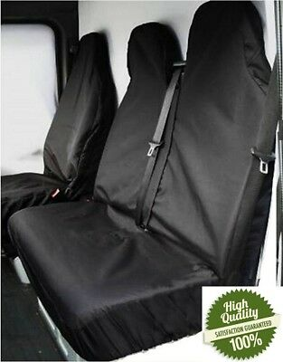 Ford Transit (00-06) Mk6 Heavy Duty Black Waterproof Van Seat Covers 2+1