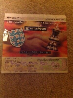 Football Cup Final @Wembley Ticket 17th May 1997 Chelsea - Middlesbrough