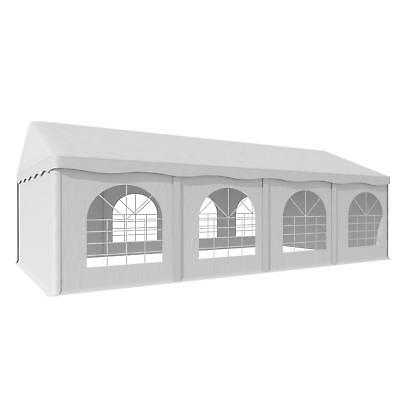 Xl Garden Party Tent Marquee Pvc Robust Water  Steel Terrace  4 X 8 M White