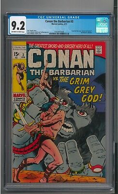 Conan The Barbarian 3 CGC 9.2 NM- Bronze Age OW-White Pages Barry Windsor-Smith