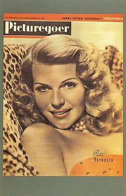 Nostalgia Postcard Picturegoer Cover of Rita Hayworth 1946 Repro Card #N1196