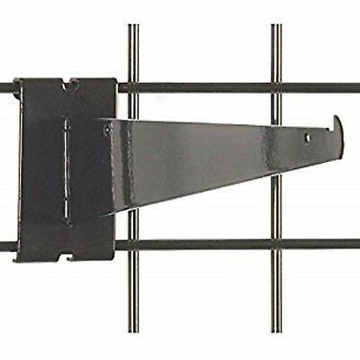 "Only Hangers 12"" Gridwall Knife Shelf Brackets With Lip - Black 10 pcs"