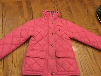 JOULES girls pink quilted jacket/coat AGE  3 YEARS VERY GOOD COND