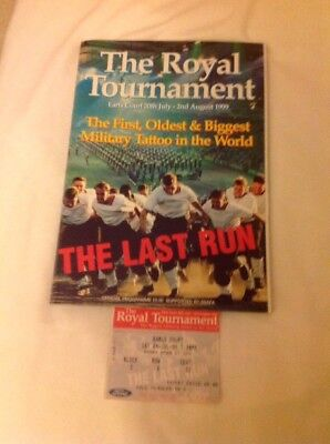 The Royal Tournament Earls Court 20th July-2nd August 1999 Programme & Ticket