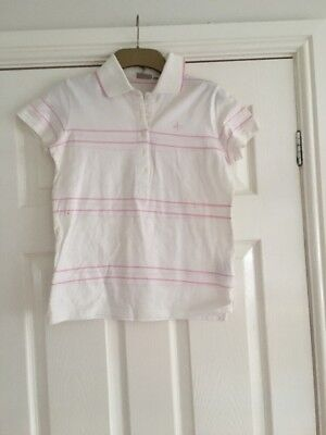 Ladies Size Small White And Pink Golf T-shirt By Cross
