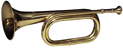 Military Cavalry Bugle Brass Classic Retro Army Taps Trumpet with Mouthpiece