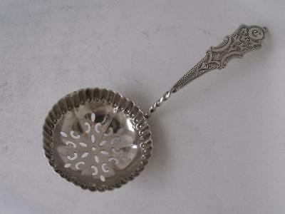 Antique Chester 1897 Solid Sterling Silver Sifter Spoon/ Ladle/ L 10.3 cm
