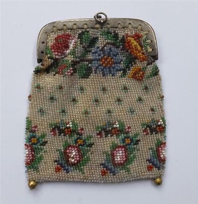 Antique Regency/victorian Beadwork Bag/reticule