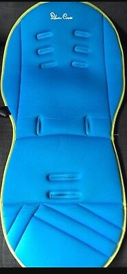 Silver Cross Seat Liner Sky Blue/lime