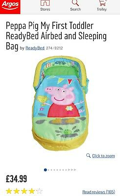 Peppa Pig  My first Ready bed with pump and attached carry bag.