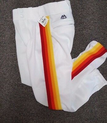Houston Astros Throwback Baseball Pants Youth Small Majestic