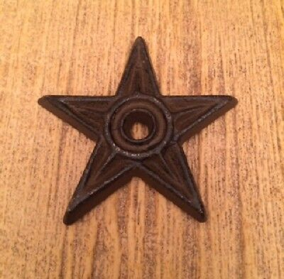 """Cast Iron Center Hole Texas Star Small 2 3/4"""" wide (ONE) Crafts 0170-02108"""