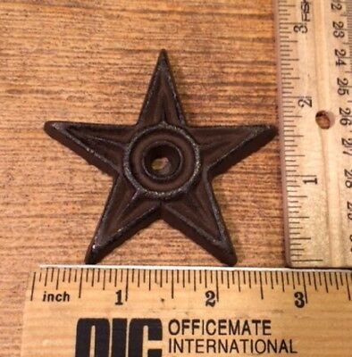 """Cast Iron Center Hole Texas Lone Star Small 2 3/4"""" wide 0170-02108"""