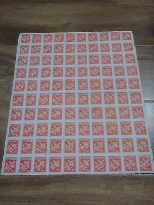 """""""Unhinged"""" 100 Stamps South Korea 15 Chon, #L"""