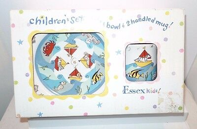 NIB- SEA LIFE 3 Piece Child Feeding Set Heather Outlaw Essex Kids Toddler Gift