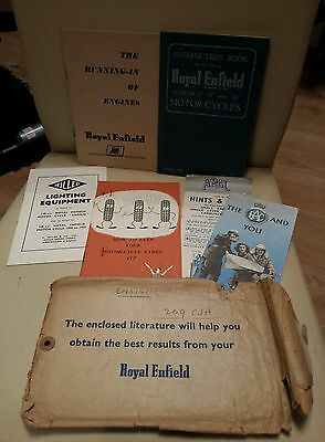 Royal Enfield Motorcycle owners handbook set Instruction Books - Ensign I II II