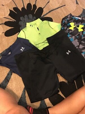 Youth Large Under Armour Clothing Lot Sweat Pants , Pulliver, 2 L/S Dri Fast