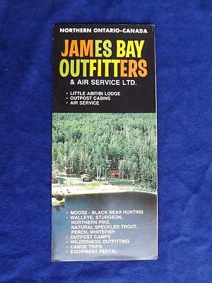 Travel Advertise Brochure James Bay Outfitters & Air Service Hunting Fishing