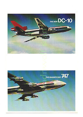 Northwest Orient Dc-10 B-747 Airline Issued Oversize Advertising Card