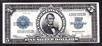 1923 $5 Silver Certificate LINCOLN PORTHOLE Fr. 282 **RARE NOTE** #10275