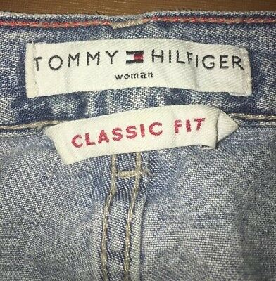 6df71def Tommy Hilfiger Women's Classic Fit Light Wash Size 16 Tapered Leg Mom Jeans