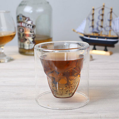 Transparent Crystal Skull Head Shot Glass Cup For Whiskey Wine Home 5.3Oz