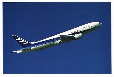 ANA All Nippon Boeing 777 Sawada Postcard. Aviation Airplane Airline
