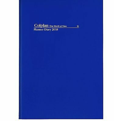 COLPLAN 2018 1 Year Planner Diary A4 Month to View MTV - NAVY BLUE #51.C59-18