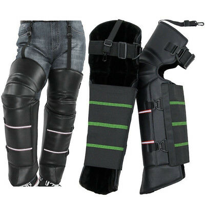 Motorcycle Knee Pads Leg Warm Protector Armor Safe Stripe Motocross Guard Brace