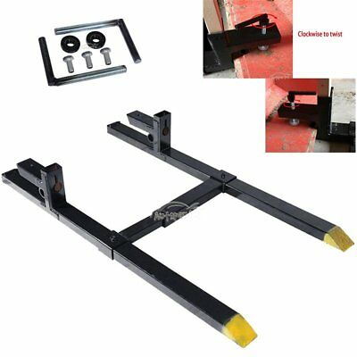 "Clamp On Pallet Forks Heavy Duty & Adjustable Stabilizer Bar 4000lbs 4"" Wide"