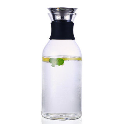 New Glass Carafe For Wine Water Juice Decanter Carafe Wine Water Jug 1.5L
