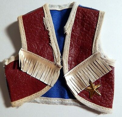 Vintage 1950s Tiny Terri Lee Western vest with fringe and star - super cute!