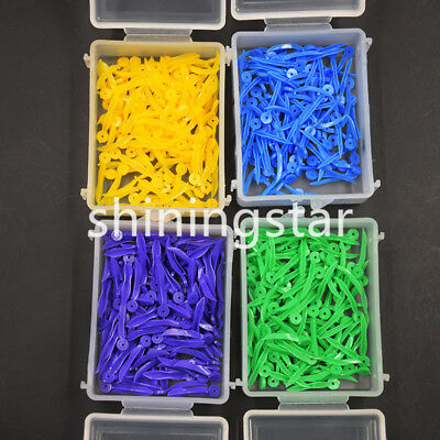 400 Pcs Dental Disposable Plastic Wedge With Holes All 4 Sizes Wave Poly-Wedge