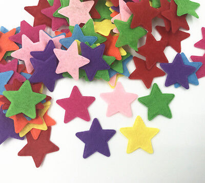 100pcs Mixed Colors star shape Felt Appliques Crafts Card Making decoration 25mm