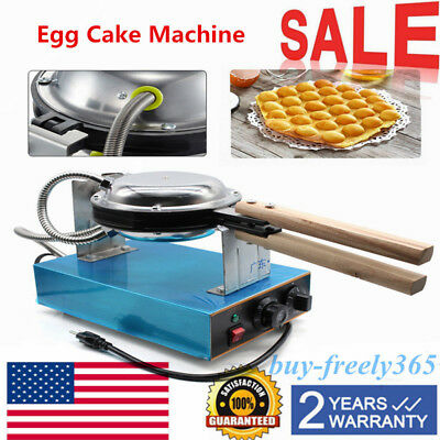 Electric Egg Cake Oven Iron Nonstick Waffle Bread Baker Maker Machine Stainless