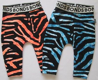 BONDS Baby Boys Girls Leggings Pants Bottoms Stretchies Tiger Blue 000 00 0 1