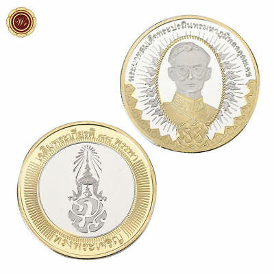 WR King Rama 9 Thailand 24K SILVER GOLD Clad Coin 88 Birthday Canadian Mint 2015