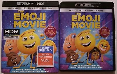 The Emoji Movie 4K Ultra Hd Blu Ray 2 Disc Set + Slipcover Free World Shipping