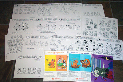 HEATHCLIFF ANIMATORS' MODEL SHEETS HANNA BARBERA Ruby Spears ARTIST GUIDE