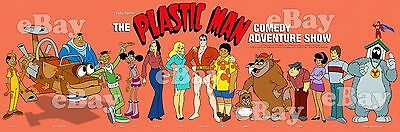 New! EXTRA LARGE! PLASTIC MAN Panoramic Poster Print HANNA BARBERA Ruby Spears