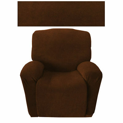 Easy Fit Stretch 1 Seater Recliner Couch Sofa Slipcover Protector Cover Washable