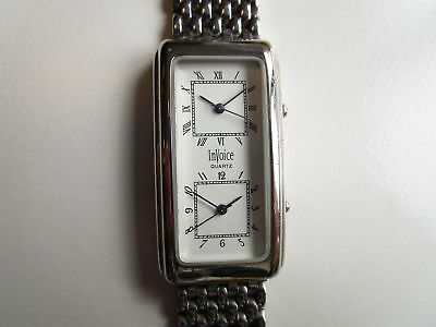 Invoice dual time gents wrist watch 90's ~ running