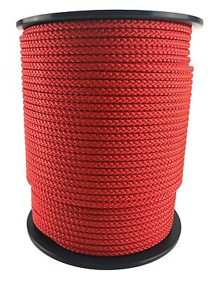 Polypropylene Rope Braided Poly Cord Sailing Yacht Climbing 10mm Red x 100 Mtrs