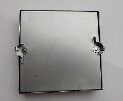 250x250mm Square Galvanised Access Door Hatch for square ducting / HVAC - qty 3